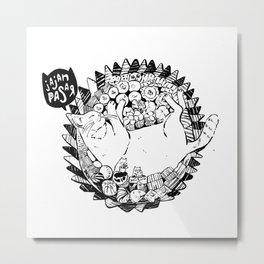 Jajan Pasar Meow Metal Print