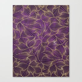 Tangles Violet and Gold Canvas Print
