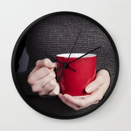 Red Mug Wall Clock