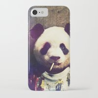 tyler durden iPhone & iPod Cases featuring Panda Durden by rubbishmonkey