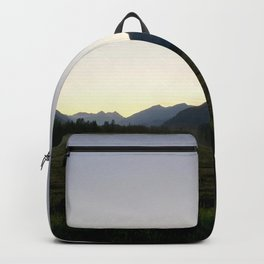 Tranquil mountains dusk Backpack