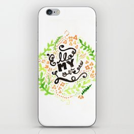 'Ello My Love Typography Watercolour Print iPhone Skin