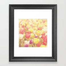 life isn't a tiptoe through the tulips ... Framed Art Print