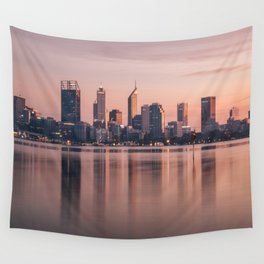 Perth City Sunrise Wall Tapestry