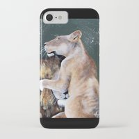 cuddle iPhone & iPod Cases featuring CUDDLE. by AnnMarie Dione