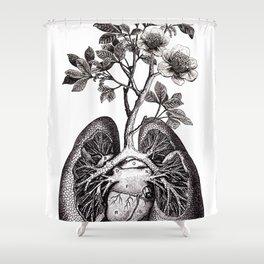 Flourishing Lungs Shower Curtain