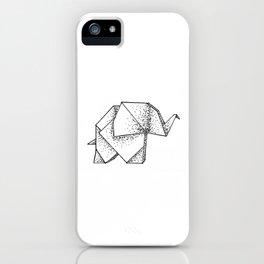 Origami Elephant iPhone Case