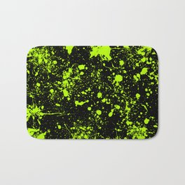 Splatter Art in Neon Green Bath Mat