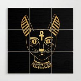 Cat goddess - Bastet Wood Wall Art