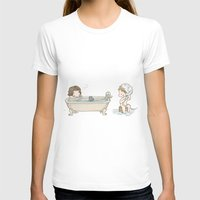 bucky barnes T-shirts featuring Bath Time with Steve Rogers and Bucky Barnes  by BlacksSideshow