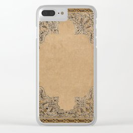 Old Knotwork Paper Clear iPhone Case