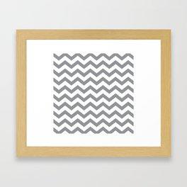 Grey Chevron Framed Art Print