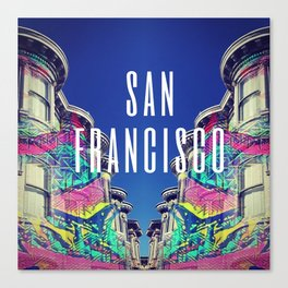 So Swimmingly SF Canvas Print