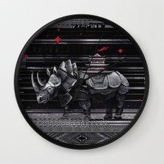 elegant rhinoceros Wall Clock