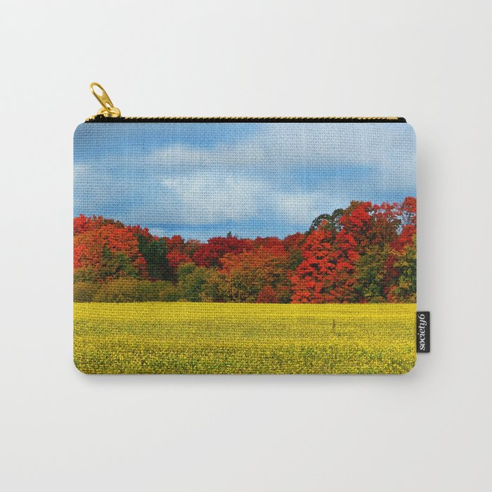 Blue Red Yellow Green and White Carry-All Pouch