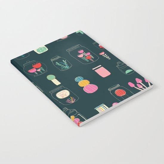 Happy terrarium pattern Notebook