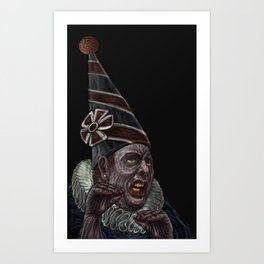 The endless chatering Art Print