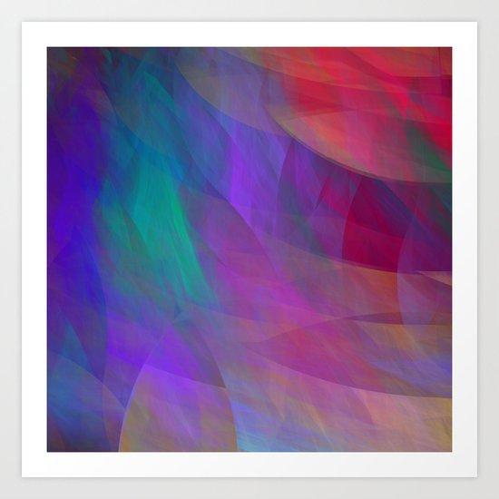 Color flames, artistic fractal abstract Art Print