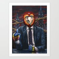 The Parrot of Political Satire Art Print