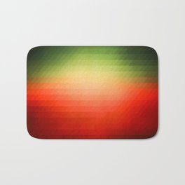 Sunset gradient pixels Bath Mat