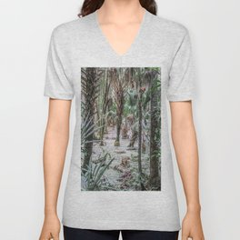 Palm Trees in the Green Swamp Unisex V-Neck