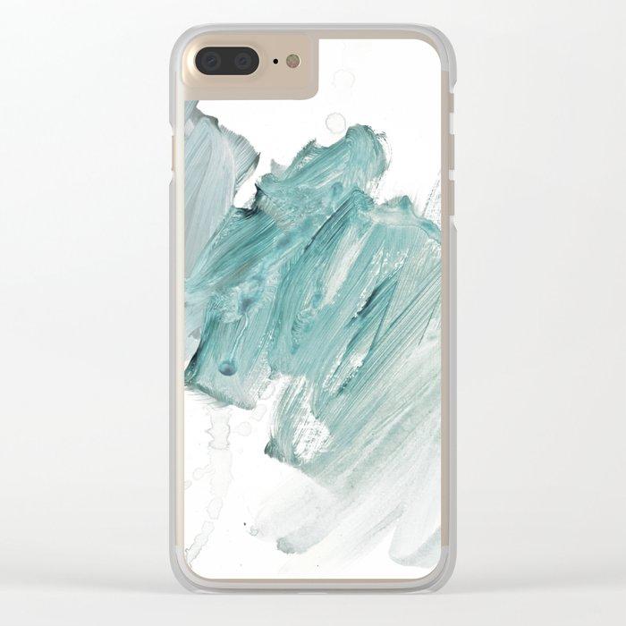 brushstrokes 11 aquamarine Clear iPhone Case