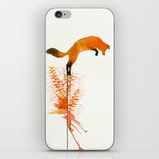 red_fox_jumping iPhone Skin