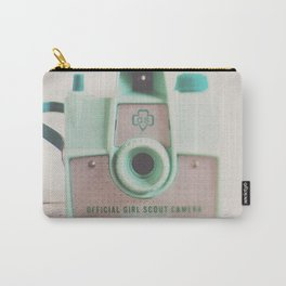 mint green vintage girl scout camera photograph Carry-All Pouch