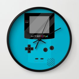 Gameboy Color - Teal Wall Clock