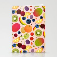 fruit Stationery Cards featuring Fruit by Malin Koort
