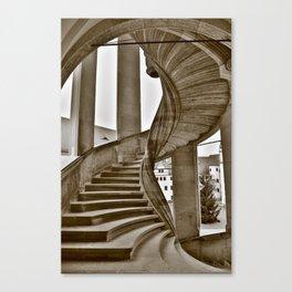 Sand stone spiral staircase 11 Canvas Print