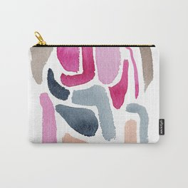 Pink, Purple & Blue Minimal Figure Carry-All Pouch