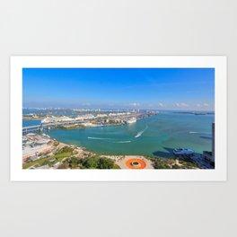 Biscayne Bay View Art Print