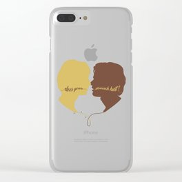 DOES YOUR STOMACH HURT? Clear iPhone Case