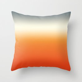sunset sky color gradient - colorful abstract background Throw Pillow