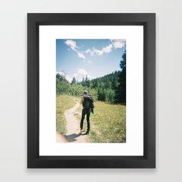 Hiking Framed Art Print