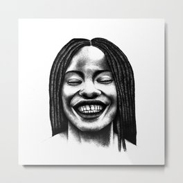Never stop to smile. Metal Print