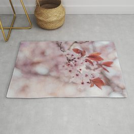Another upclose view of the Cherry blossom flowers Rug