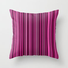 Pink Stripes Throw Pillow
