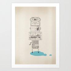 Wierd Art Print