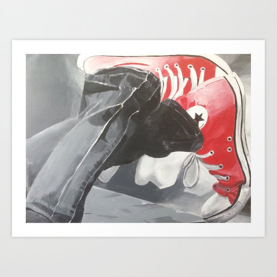 Red shoes #2 Art Print