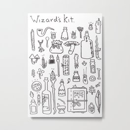 Wizard's Kit Metal Print