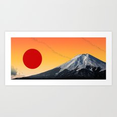 Rising Sun on Fuji Art Print