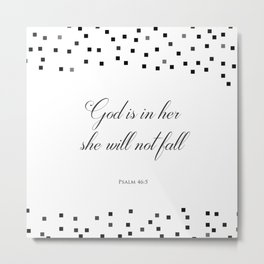 Psalm 46:5 God is within her, she will not fall Religious Art Print Metal Print