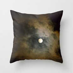 Lunar Corona  Throw Pillow