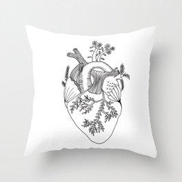 Growing heart Throw Pillow