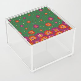 Retro Blooming Acrylic Box
