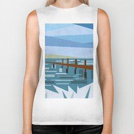 LOOKING AT THE SEA (abstract) Biker Tank