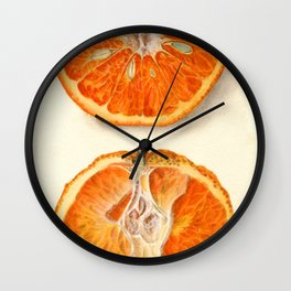 Vintage Painting of Tangerines Wall Clock