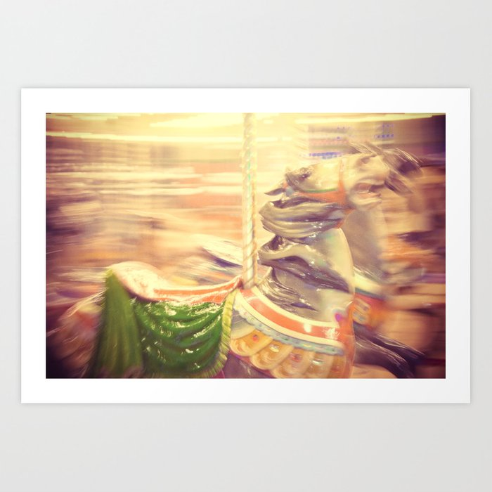 Merry-go-round from our youth Art Print